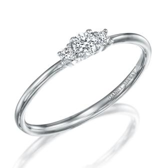 טבעת סוליטר יהלום RA456