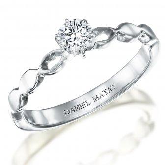טבעת סוליטר יהלום RA309