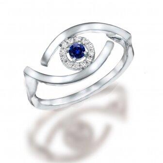 טבעת עין עדי הימלבלוי 0.14ct  RD196
