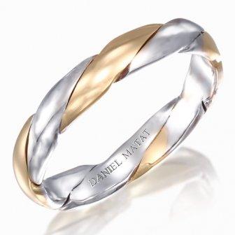 טבעת צמה משולב