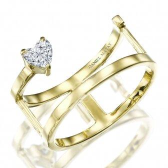 טבעת קלואי - יהלום לב
