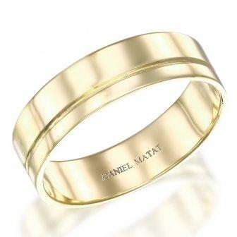 טבעת נישואין עם פס