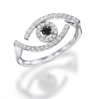 טבעת עין עדי הימלבלוי 0.28ct RD195