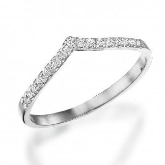 טבעת יהלומים וי