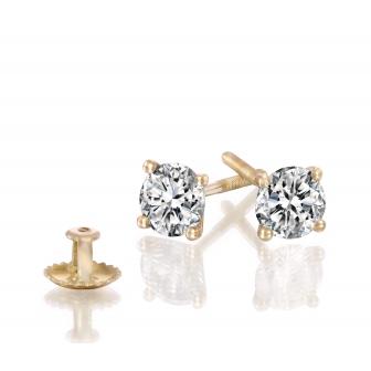 זוג עגילי יהלומים 0.60 קארט