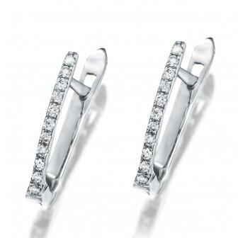 זוג עגילי יהלומים EH2533