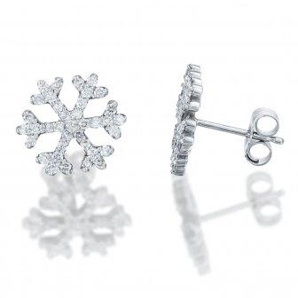 עגילי שלג יהלומים P237-A