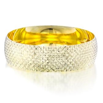 צמיד קשיח זהב רחב חיתוכי ליזר