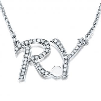 שרשרת אותיות יהלומים R Y