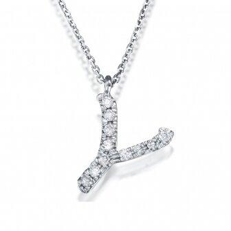 שרשרת אות Y יהלומים