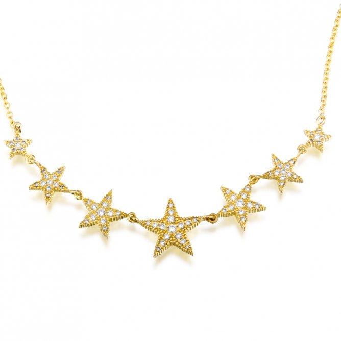 שרשרת כוכבים יהלומים