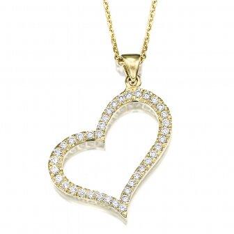 שרשרת לב יהלומים L34