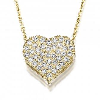 שרשרת לב פאווה יהלומים P243