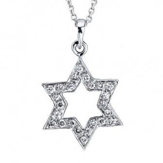 תליון מגן דוד יהלומים M18