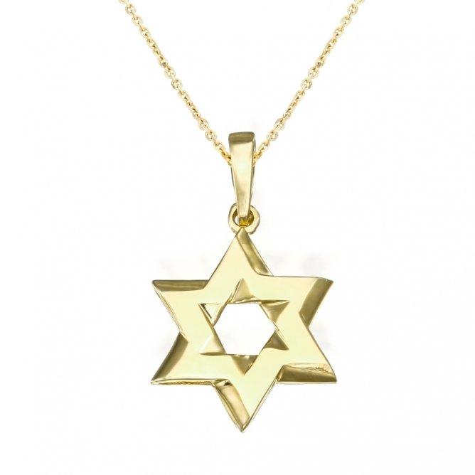 שרשרת מגן דוד צהוב