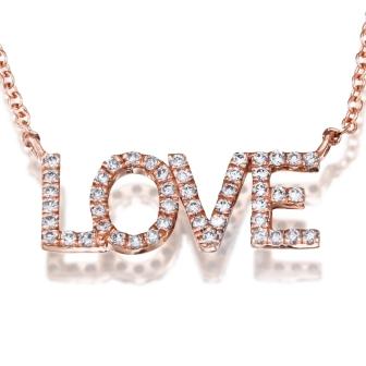 שרשרת LOVE יהלומים