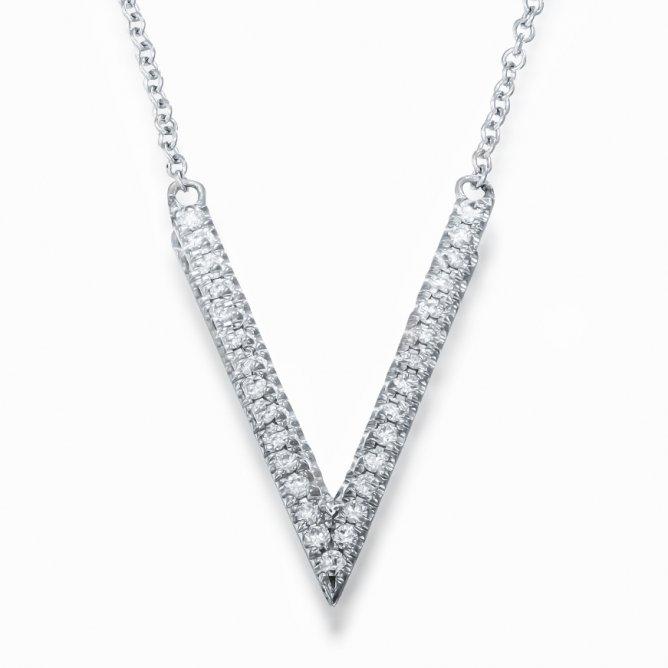 תליון V יהלומים
