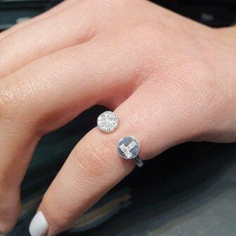 טבעת ניקי יהלומים