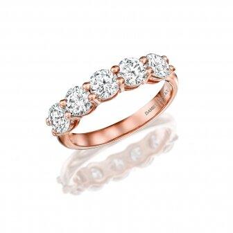טבעת חצי נישואין יהלומים מעבדה RD181