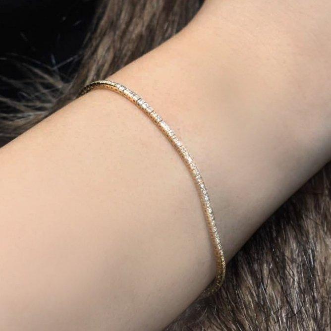 צמיד טניס יהלומים זהב לבן 0.4 קראט
