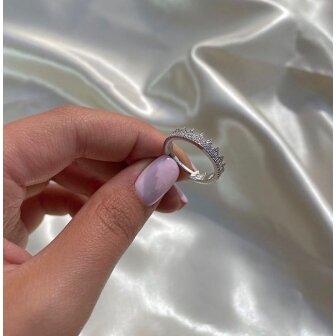 טבעת כתר פווה יהלומים
