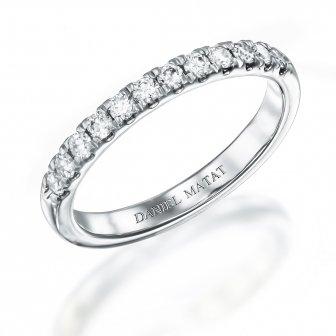 טבעת חצי נישואין 0.30 קארט