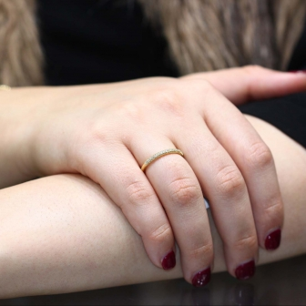 טבעת חצי נישואין יהלומים RD137Y