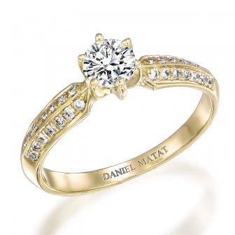 טבעת אירוסין יהלומים RB566