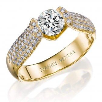 טבעת אירוסין יהלומים RB108