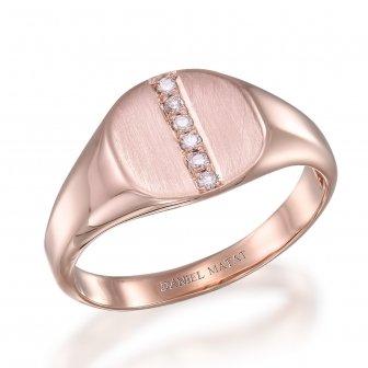 טבעת חותם חריטה אדום