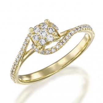 טבעת יהלומים 004
