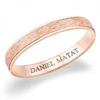 טבעת נישואין קנט מבריק מט שריטוט