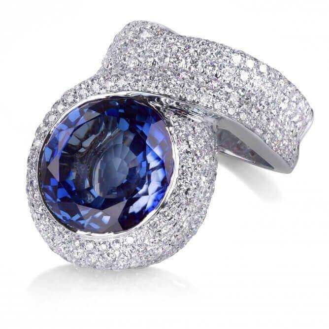 טבעת יוקרה ספיר