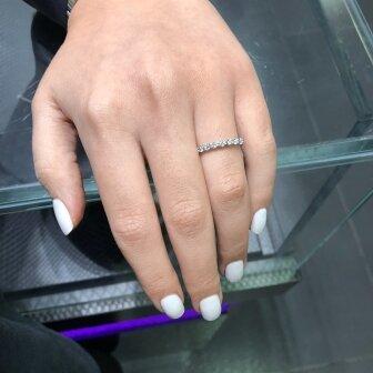 טבעת חצי נישואין יהלומי מעבדה RD203