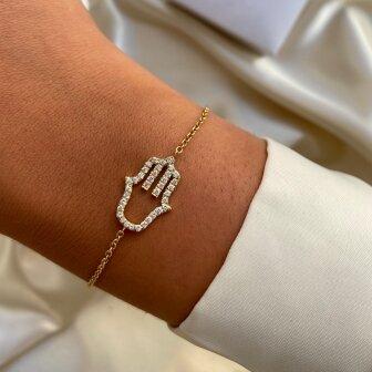 צמיד חמסה יהלומים H25