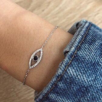 צמיד עין יהלומים