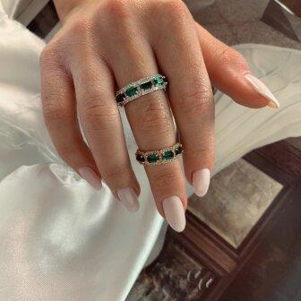 טבעת איזמרלדה- אבני חן אמרלד ויהלומים