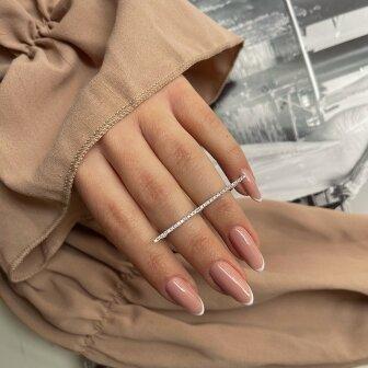 טבעת ליין יהלומים