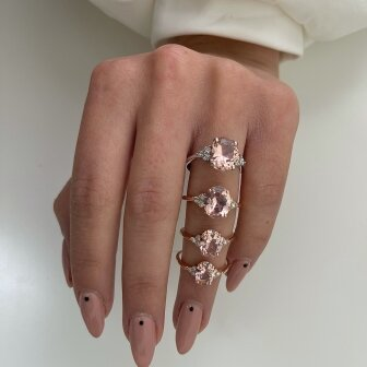 טבעת פינק אובל RB355