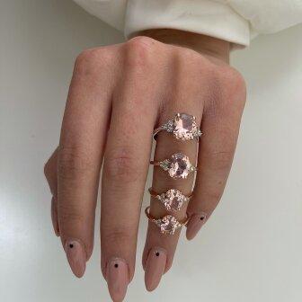 טבעת פינק אובל RB356
