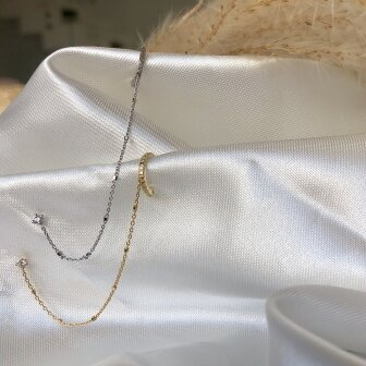 עגיל שרשרת יהלום זואי - ZOE