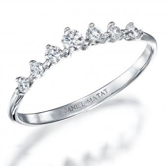 טבעת חצי נישואין RD173  כתרינה- Caterina