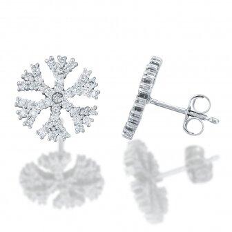 עגילי שלג יהלומים P237-B