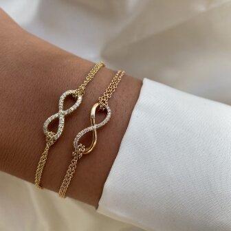 צמיד אינפיניטי יהלומים זהב אדום