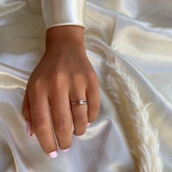טבעת סוליטר יהלום RA59Y