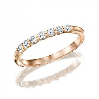 טבעת חצי נישואין יהלומים מעבדה RD201