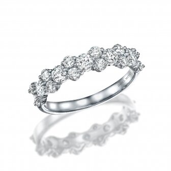 טבעת חצי נישואין יהלומים מעבדה RD242